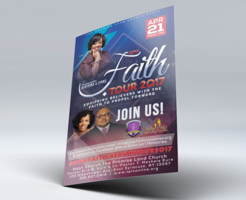 Promise Land – Faith Tour Flyer