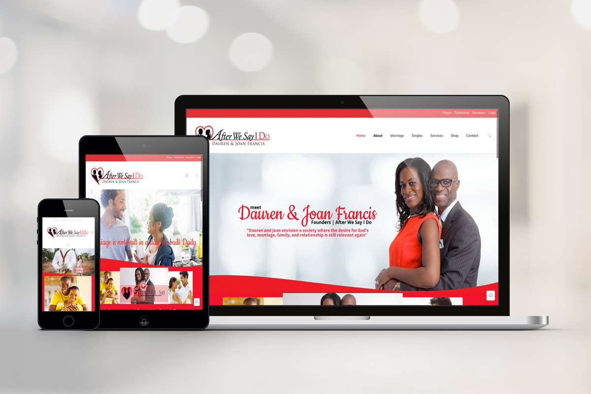 After We Say I Do Web/Logo Redesign